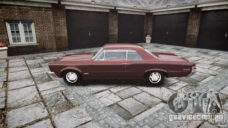 Pontiac GTO 1965 для GTA 4 вид изнутри