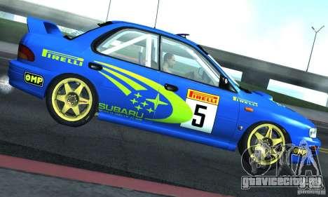 Subaru Impreza 1995 World Rally ChampionShip для GTA San Andreas вид сзади