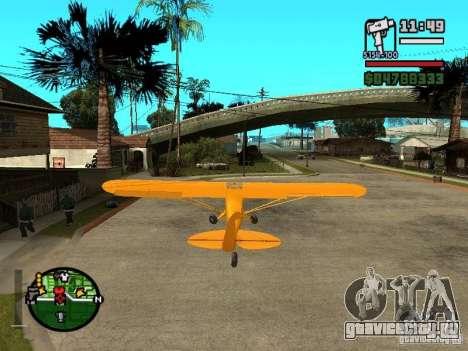 Piper J-3 Cub для GTA San Andreas вид сзади слева
