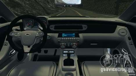 Chevrolet Camaro ZL1 2012 v1.0 Flames для GTA 4 вид сзади