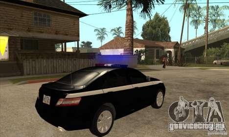 Toyota Camry 2010 SE Police RUS для GTA San Andreas вид справа