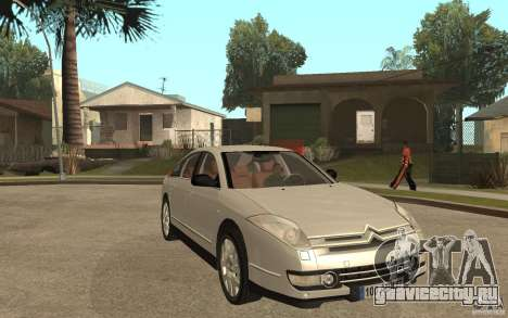 Citroen C6 для GTA San Andreas вид сзади