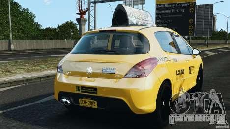 Peugeot 308 GTi 2011 Taxi v1.1 для GTA 4 вид сзади слева