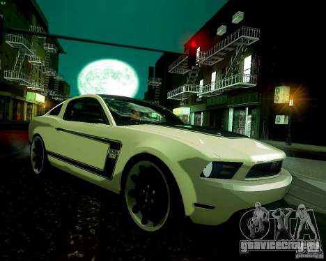 Ford Mustang Boss 302 2011 для GTA San Andreas вид сзади