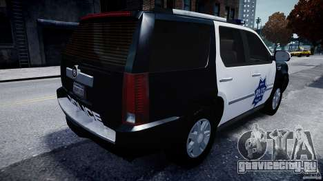 Cadillac Escalade Police V2.0 Final для GTA 4 вид сзади слева