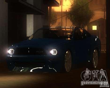 Shelby Mustang 2009 для GTA San Andreas вид слева