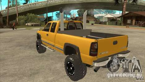 Chevrolet Silverado 2500 Lifted для GTA San Andreas вид сзади слева