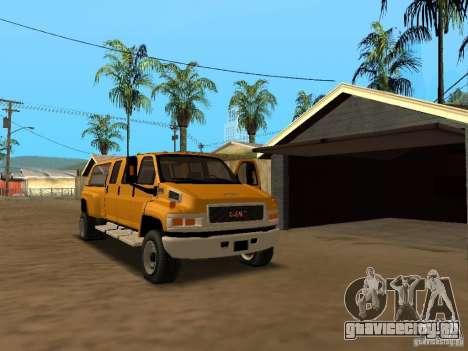 GMC TopKick для GTA San Andreas вид изнутри