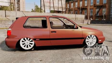Volkswagen Golf MK3 Turbo для GTA 4 вид слева