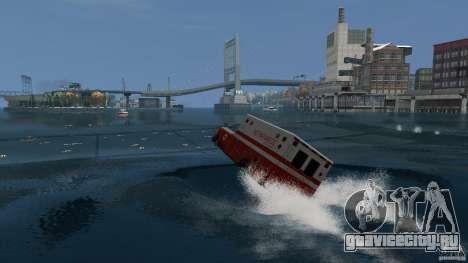 Ambulance boat для GTA 4 вид слева
