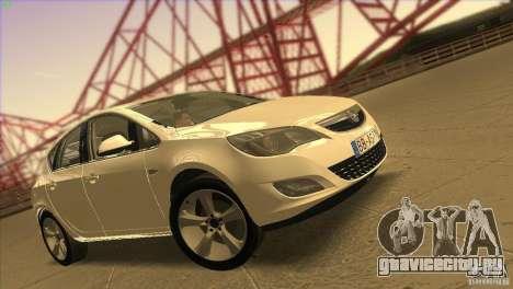 Opel Astra 2010 для GTA San Andreas салон