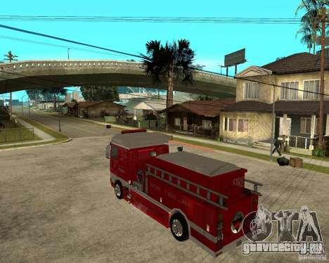 DAF XF 530 Пожарная для GTA San Andreas вид слева