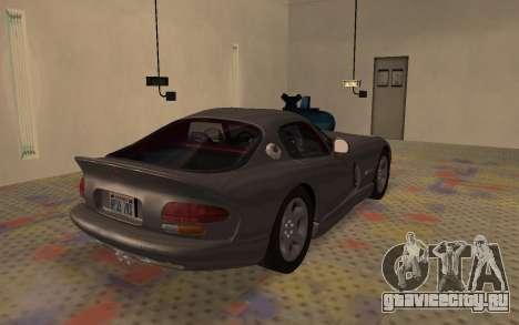 Dodge Viper GTS Tunable для GTA San Andreas вид сзади слева