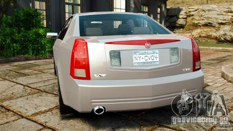 Cadillac CTS-V 2004 для GTA 4 вид сзади слева