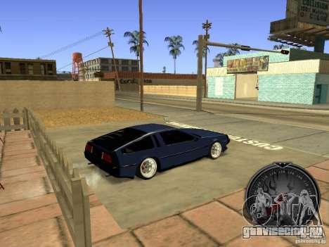 Delorean DMC-12 Drift для GTA San Andreas вид сзади слева