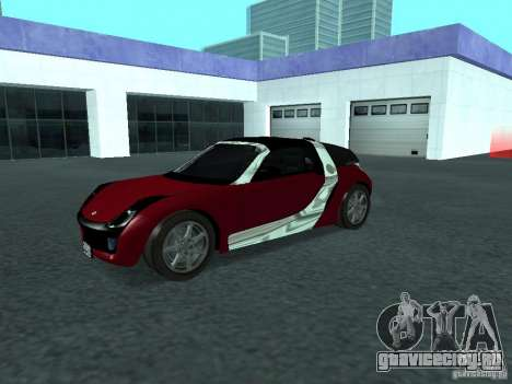 Smart Roadster Coupe для GTA San Andreas вид изнутри