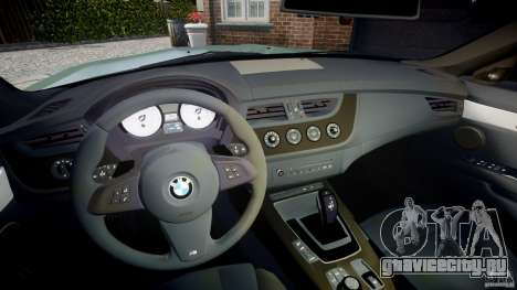 BMW Z4 sDrive35is 2011 v1.0 для GTA 4 вид сзади