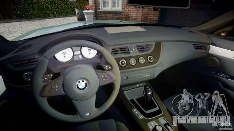 BMW Z4 sDrive35is 2011 v1.0 для GTA 4 вид сзади
