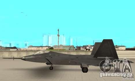 YF-22 Black для GTA San Andreas вид слева