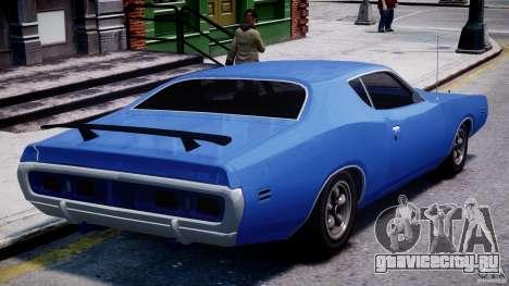 Dodge Charger RT 1971 v1.0 для GTA 4 вид сзади слева