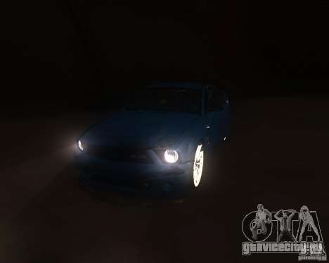 Shelby Mustang 2009 для GTA San Andreas вид сзади