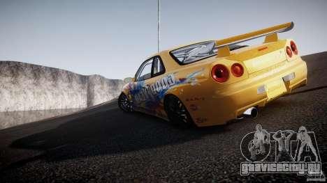 Nissan Skyline R34 GT-R Tezuka Goodyear D1 Drift для GTA 4 салон