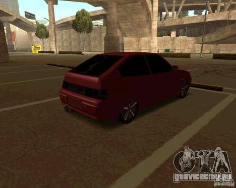 ВАЗ 2112 купе v.2 для GTA San Andreas вид сзади слева