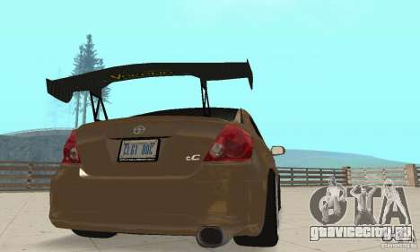 Toyota Scion tC Edited для GTA San Andreas вид изнутри
