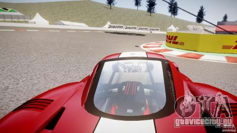 Ferrari FXX для GTA 4 вид изнутри