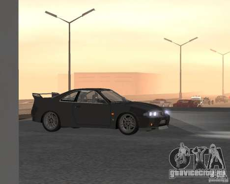 Nissan Skyline GT-R R-33 для GTA San Andreas вид сверху