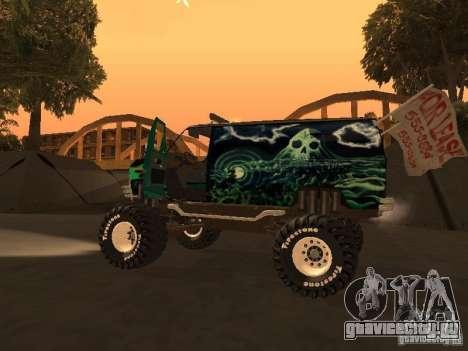 Ford Grave Digger для GTA San Andreas вид справа