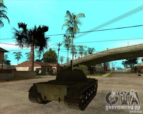 Т-55 для GTA San Andreas вид сзади слева