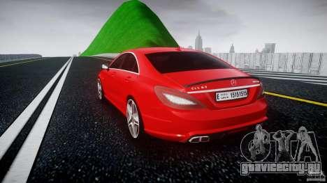 Mercedes-Benz CLS 63 AMG 2012 для GTA 4 вид сзади слева