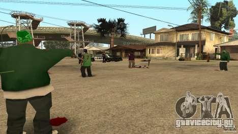 На Grove Street напал Ballas для GTA San Andreas третий скриншот