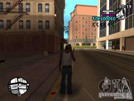 HUD by Hot Shot v.2 для GTA San Andreas второй скриншот