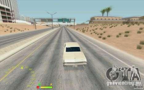 Спидометр и индикатор бензина для GTA San Andreas второй скриншот