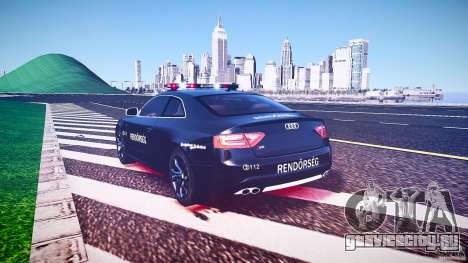 Audi S5 Hungarian Police Car black body для GTA 4 вид сверху