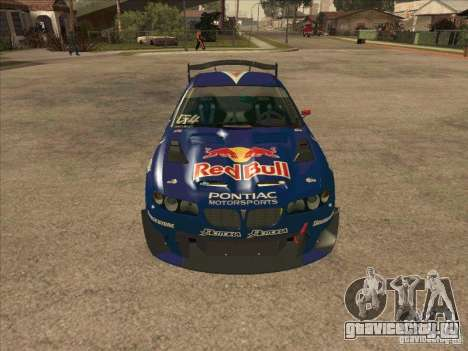 Pontiac GTO Red Bull для GTA San Andreas вид сзади