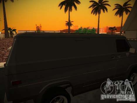 GMC Vandura для GTA San Andreas вид изнутри