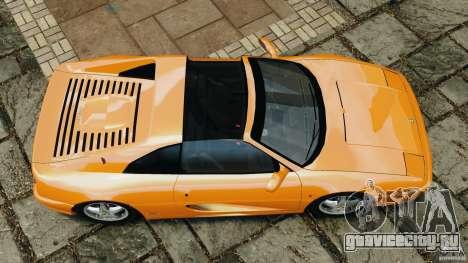 Ferrari F355 F1 Berlinetta для GTA 4 вид справа