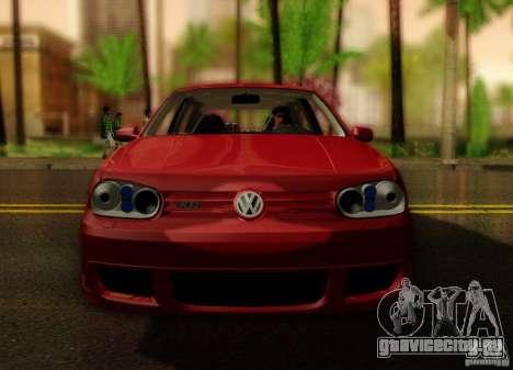 Volkswagen Golf Street для GTA San Andreas вид справа