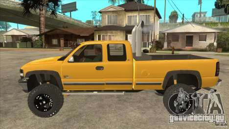 Chevrolet Silverado 2500 Lifted для GTA San Andreas вид слева