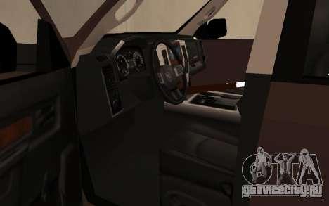 Dodge Ram 3500 для GTA San Andreas вид сзади
