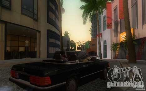 Mercedes-Benz 350 SL Roadster для GTA San Andreas вид сзади