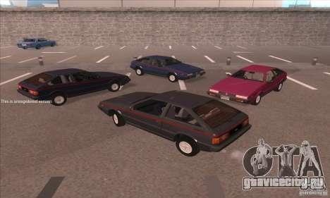 Isuzu Piazza для GTA San Andreas вид сзади