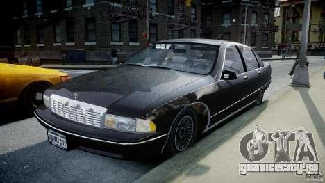 Chevrolet Caprice FBI v.1.0 [ELS] для GTA 4 вид сзади
