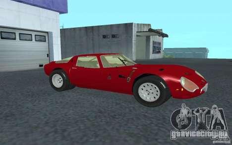 Alfa Romeo Gulia TZ2 1965 для GTA San Andreas вид слева
