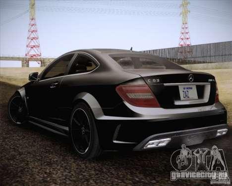 Mercedes-Benz C63 AMG Black Series для GTA San Andreas вид слева