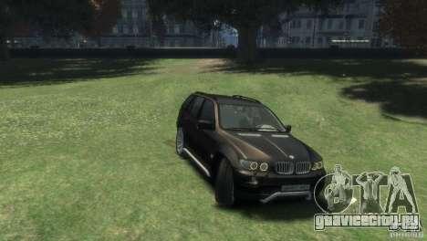 BMW X5 для GTA 4 вид справа