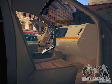 Ford Crown Victoria Police Intercopter для GTA San Andreas салон
